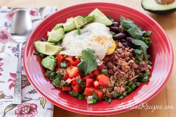 Quinoa and Egg Breakfast Bowl - Andrea Meyers
