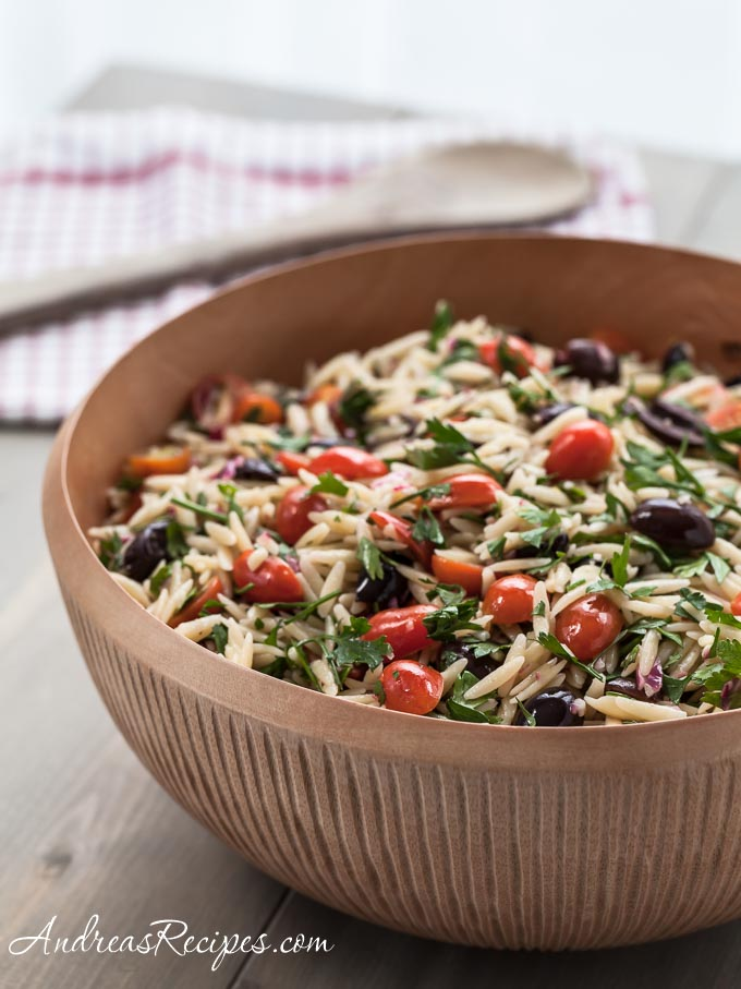 Mediterranean Orzo Salad - Andrea Meyers