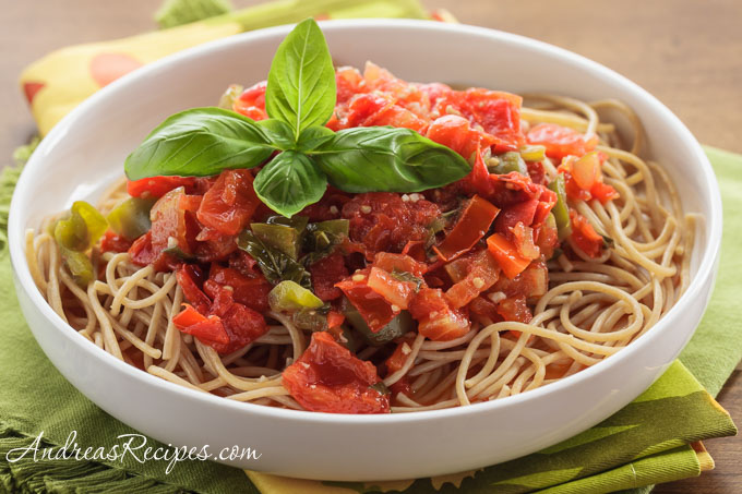 San Marzano Tomato Sauce with Peppers - Andrea Meyers