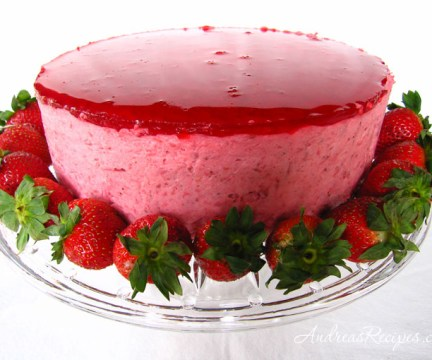 Strawberry Mirror Cake