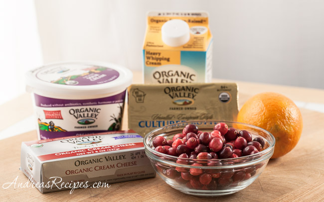 Ingredients for Orange Cranberry Fool Tart - Andrea Meyers