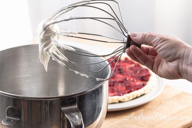 Whipped cream for Orange Cranberry Fool Tart - Andrea Meyers