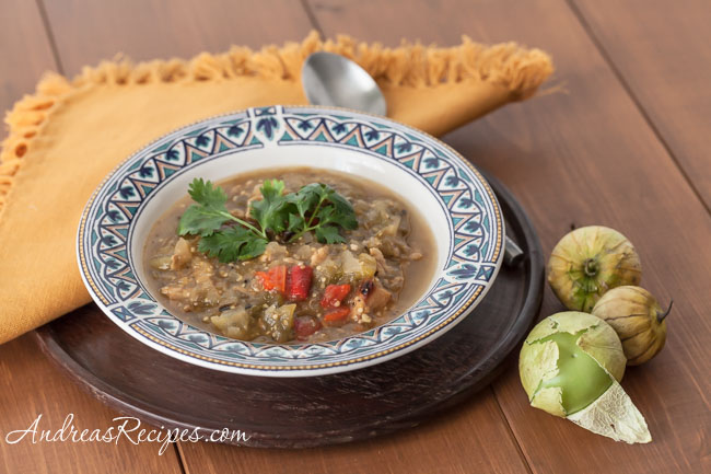 Andrea Meyers - Grilled Tomatillo Chili