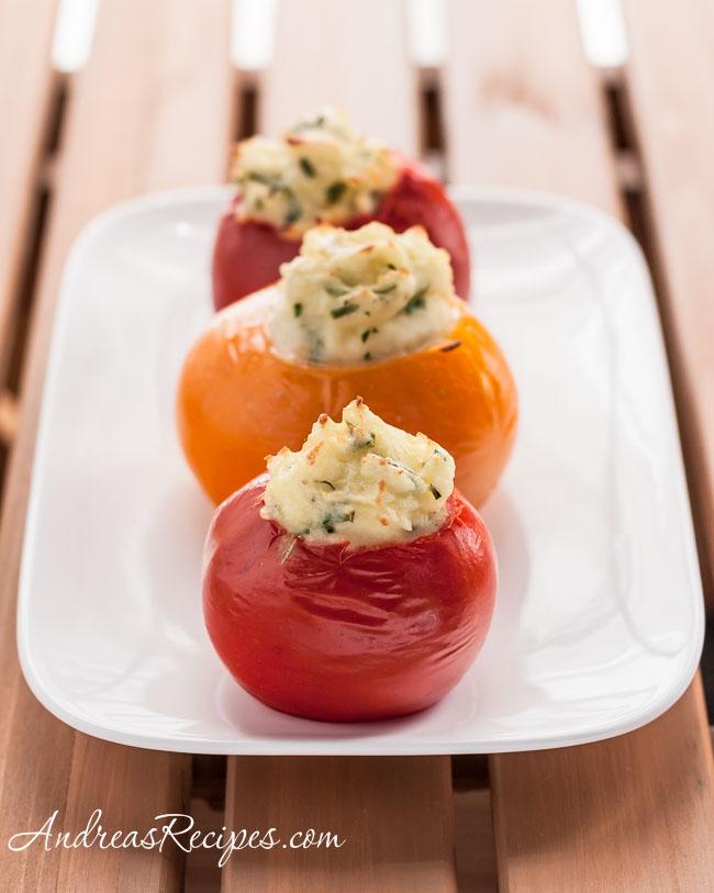 Mashed Potato-Stuffed Tomatoes - Andrea Meyers