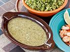 Andrea Meyers - Tomatillo and Pumpkin Seed Sauce with Shrimp (Pipian Verde con Camarones)