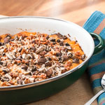 Butternut Squash Au Gratn with Mushrooms and Bacon - Andrea Meyers