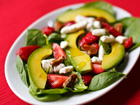 Andrea Meyers - Strawberry Spinach Salad with Avocado and Champagne Vinaigrette