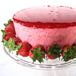 Strawberry Mirror Cake - Andrea Meyers