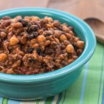 Slow Cooker Four Bean Baked Beans Recipe - Andrea Meyers