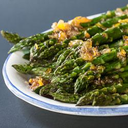 Roasted Asparagus with Orange Ginger Glaze - Andrea Meyers