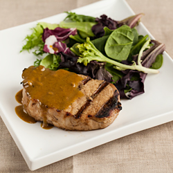 Andrea Meyers - Maple Mustard Grilled Pork Chops