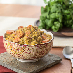 Andrea Meyers - Slow Cooker Sweet Potato, Cauliflower, and Broccoli Curry