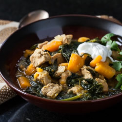 Sweet Potato, Chicken, and Spinach Curry Recipe with Quinoa - Andrea Meyers