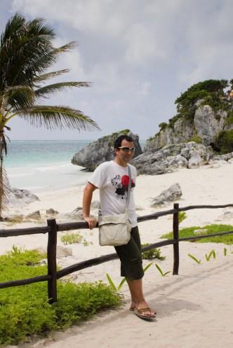 enjoying the sea and sun in Tulum, Mexico