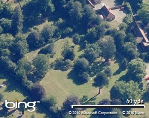 A Bird's Eye View of our venue, provided by Bing Mapping