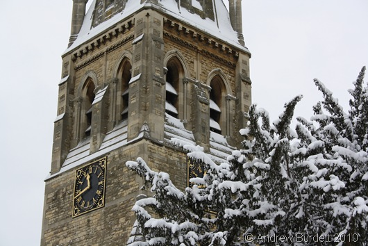 SNOW CHURCH_Snow at St Luke's Church, Maidenhead on Sunday.
