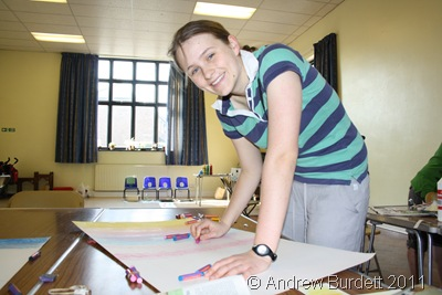 THE ART OF CHRISTIANITY_Harriet Burdett, 19, assists in the making of the Easter Sunday cross.