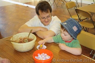 LIKE FATHER LIKE SON_Will Mohr and son Johan make a chocolate crispy cake.