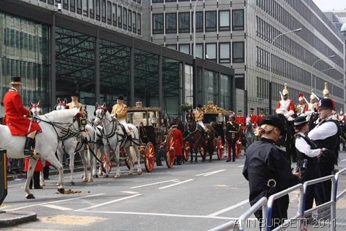 HORSEY BOY_Horses pull the royal carriages.