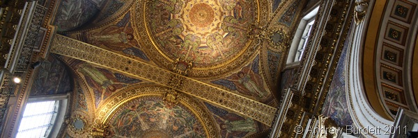 INTRICATE DETAIL_The view of the ceiling of St Paul's Cathedral, as witnessed when laying on the floor of the quire.