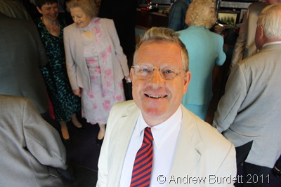 SMILEY FELLAR_Richard Holroyd in the bar, just before we all moved to the Long Barn for the meal.