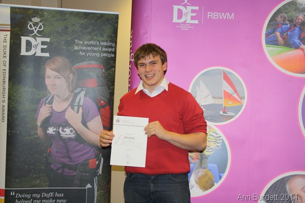 SENSE OF ACHEIVEMENT_Shortly after receiving my DofE Bronze Award certificate.