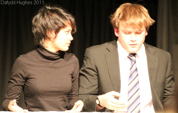 IN COSTUME_Robyn Wijesinghe and I perform during our assessed devised piece this evening.