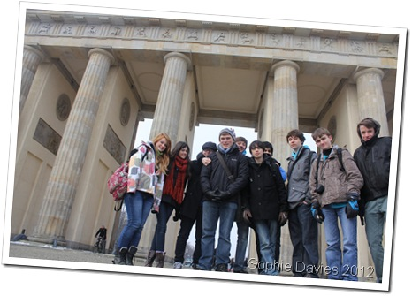 HISTORIC DAY: Me and my friends outside the Brandenburg Gate. (IMG_7552)