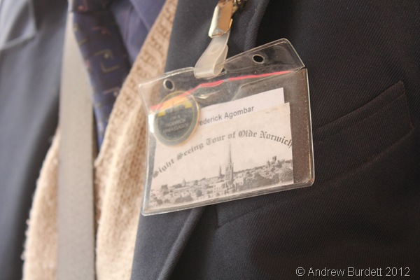 IT'S GOT HIS NAME ON IT: Frederick's namebadge. (096_IMG_1816_ARB)