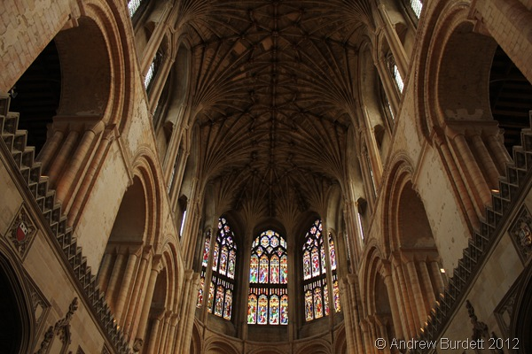QUITE A CEILING: The impressive east end of the cathedral. (149_IMG_1875_ARB)