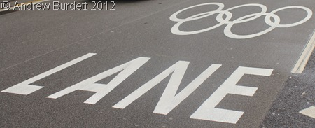 ZIL LANES: 30 miles of Olympic-family lanes went live yesterday. (IMG_9214)