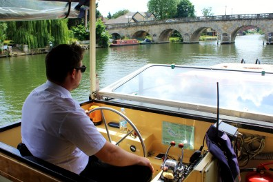 Maidenhead Bridge, as seen from the 18th birthday party boat.