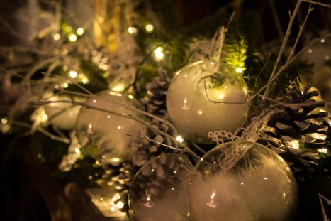 Simple but effective, these glass baubles – which sit on the mantlepiece of a Waddesdon room – are stuffed with a fluffy, cotton wool-like material.