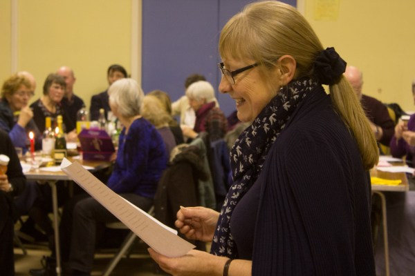 Revd Sally Lynch revealed answers to the quiz-sheets, spread among the tables at the start of the evening.