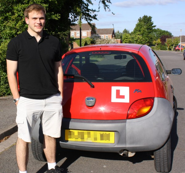 Andrew Burdett with the family car.