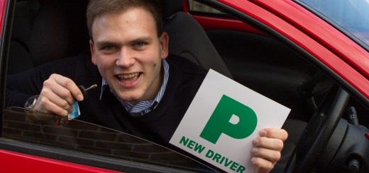 Andrew Burdett with P-plates and family car keys.