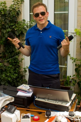 Andrew Burdett was again responsible for the church fete's PA system.