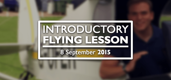 YouTube thumbnail for the My First Flying Lesson film.