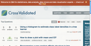CrossValidated:  A place to post your statistics questions