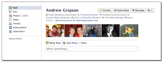 Old Facebook Cover Photo - Andrew Grojean