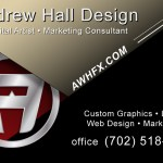 Andrew Hall Design Business Card