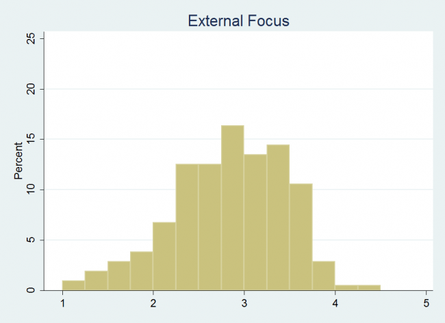 Externally focused histogram