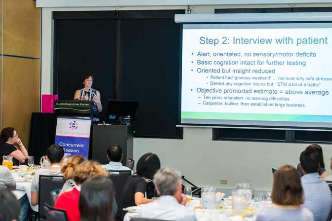 Image of conference speaker during workshop sessions of ANZSGM 2016