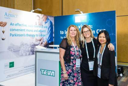 Image of delegates in front of trade exhibit booth at ANZSGM 2016