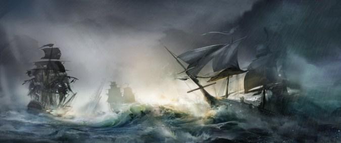 ocean sea storm ships artwork civil war assassins creed 3 5000x2100 wallpaper_www.wallpaperfo.com_93