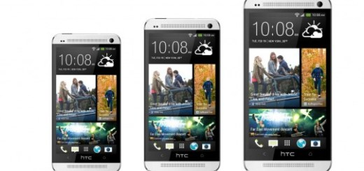 HTC One alongside HTC One Mini and HTC One Max