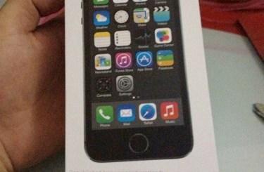 iPhone 5S retail box