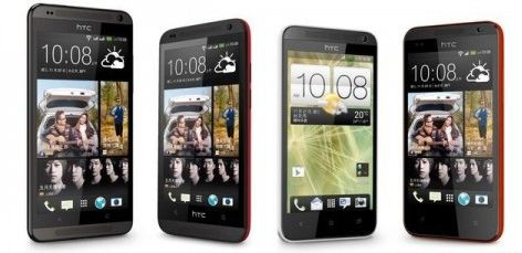 HTC Desire 700, 601, 501, and 300