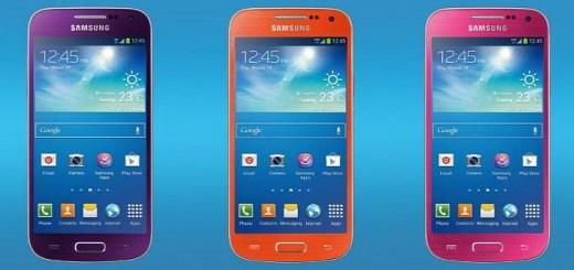 Pink, purple and orange Galaxy S4 Mini in UK