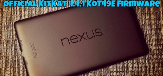 Root 2013 Nexus 7 on Android 4.4.1 KOT49E OS